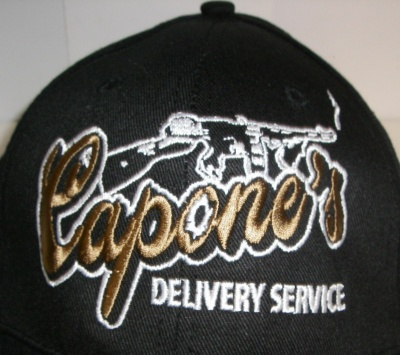 CAPONE'S DELIVERY SERVICE-BLACK embroidered Cap