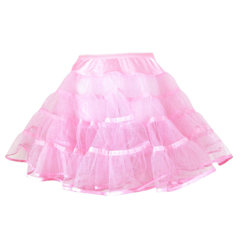 Youth Crinoline: poodle skirts - Pink