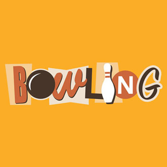 Funky Retro Bowling Stock Print on Youth T-Shirt