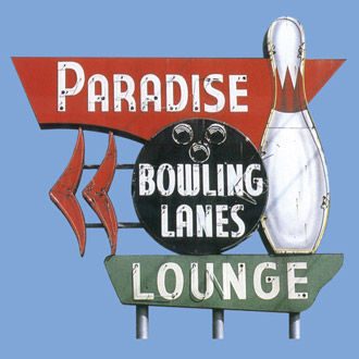 Paradise Lanes Stock Print on Youth T-Shirt