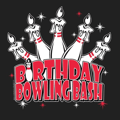 Birthday Bowling Bash Stock Print on Youth T-Shirt