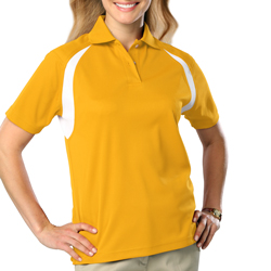 Polo-LADIES Cut  Blue Generation -GOLD/White-SM