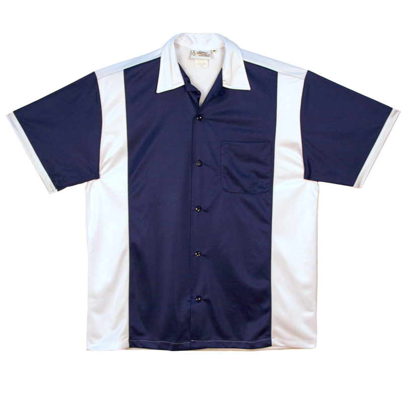 Retro Bowler - Navy & White