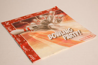 Bowling Thunder Lunch Napkin 10 Packs
