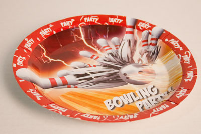 Bowling Thunder Luncheon Plates 10 Packs