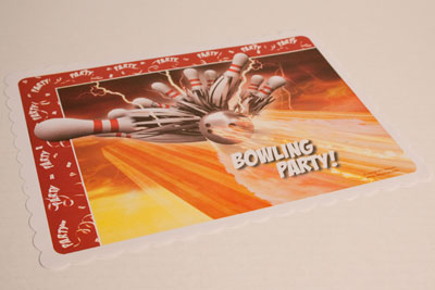 Bowling Thunder Placemats 10 Packs