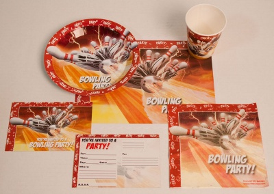 Bowling Thunder Party Decoration Set 10 Packs