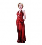 Lifesize Standup: Marilyn Monroe Red Gown