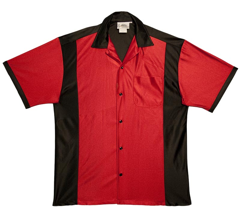 Red & Black Bowling Shirt