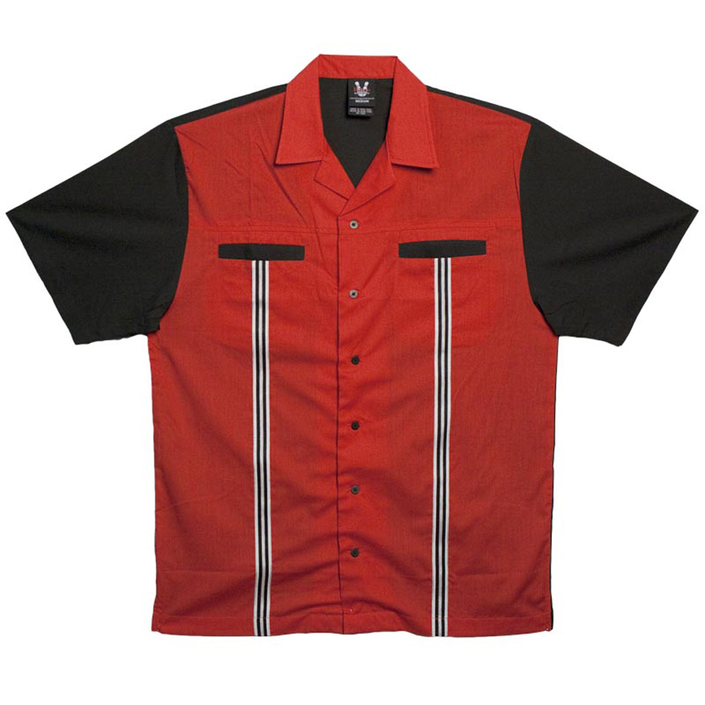Red Rockaway 2248 Button Up Bowling Shirt