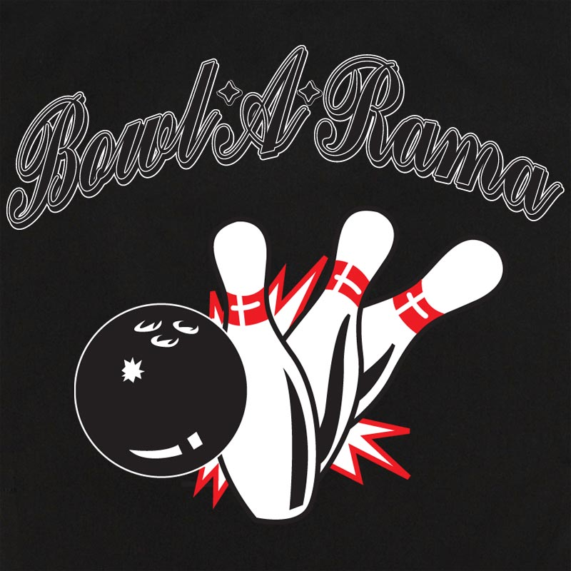Button Up Rockaway 2248 Bowling Shirt With Bowl-a-Rama on Back