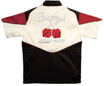 Button Up Pit Crew 2274 Racing Shirt With Lucky's Speed Shop on Back