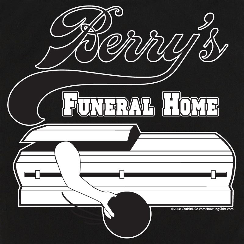 Button Up Rockaway 2248 Bowling Shirt With Berry's Funeral Home
