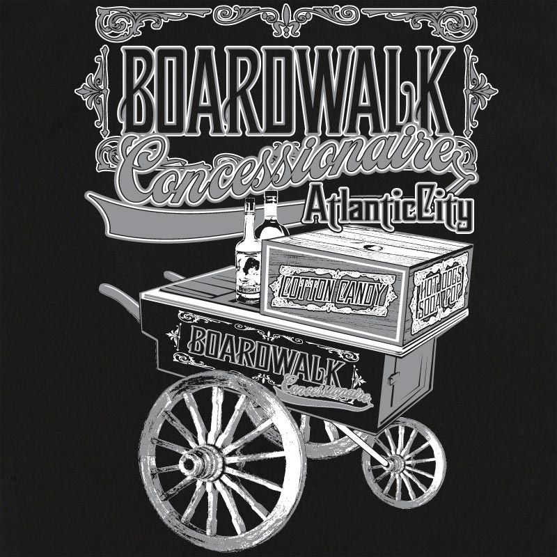 Button Up Rockaway 2248 Bowling Shirt With Boardwalk Concessionaire