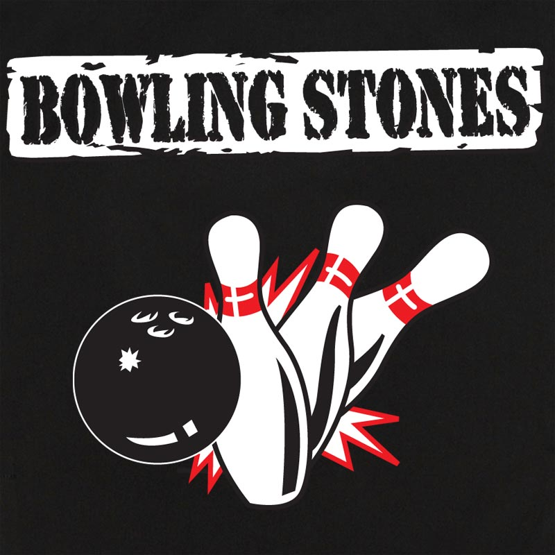 Button Up Rockaway 2248 Bowling Shirt With Bowling Stones