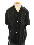 DaVinci GAMBINO in BLACK w/ White Embroidered Vertical stripes on front-MD