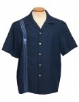 ALL OVER L.A.-DaVinci RAYON shirt in NAVY-5XL