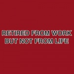 Retired from Work But not from Life Graphic Heavy Cotton T-Shirt