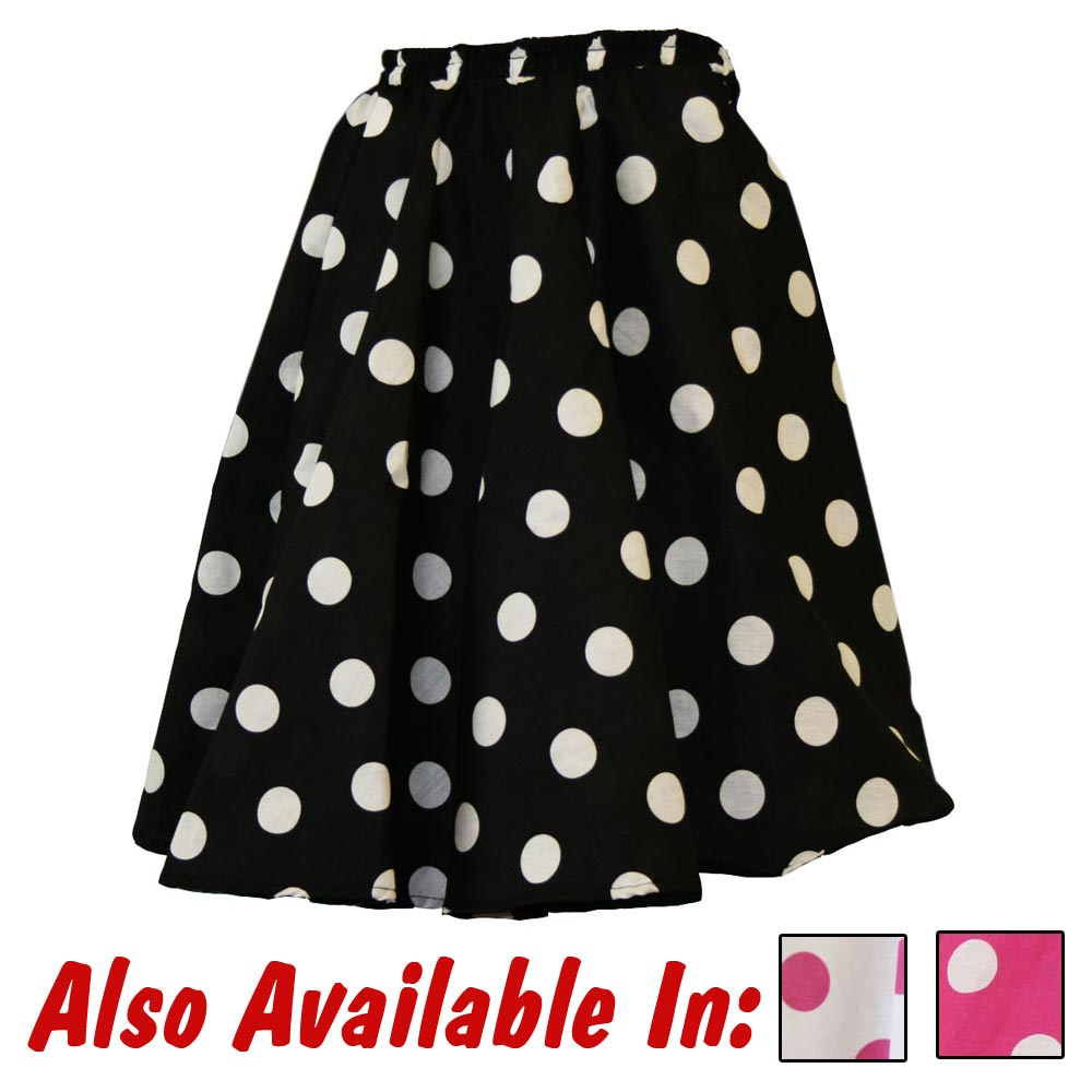 Polka Dot Circle Skirt Adult
