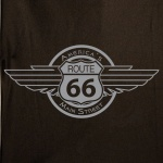 Route 66 Wing Emblem Stock Print on 50's Style Bowling Shirts