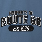 Property of Route 66 Graphic Heavy Cotton T-Shirt