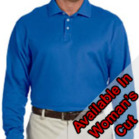 Devon & Jones Pima Pique Long-Sleeve Polo