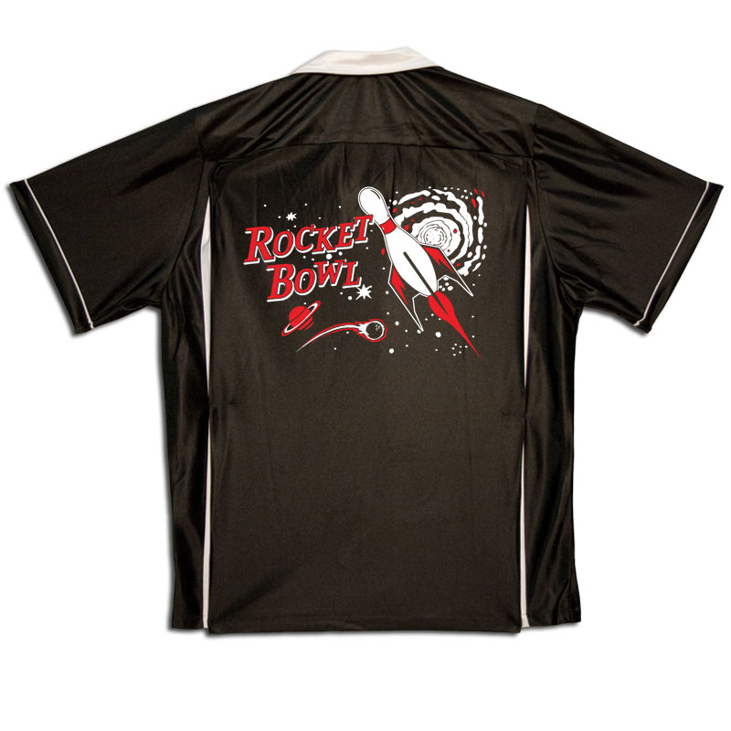 Rocket Bowl Stock Print on Youth Bowling Shirts