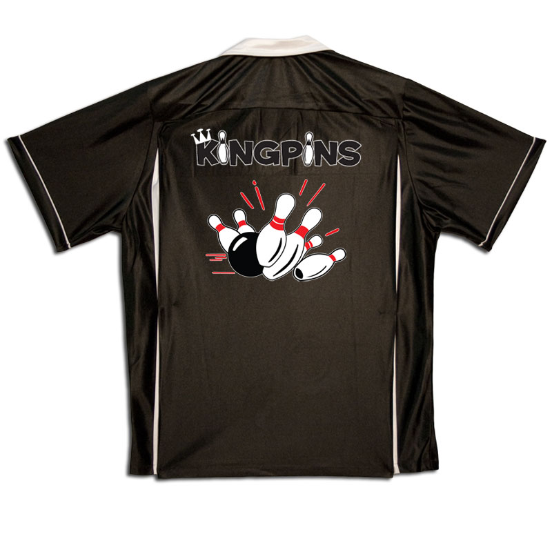 Kingpin Stock Print on Youth Bowling Shirts