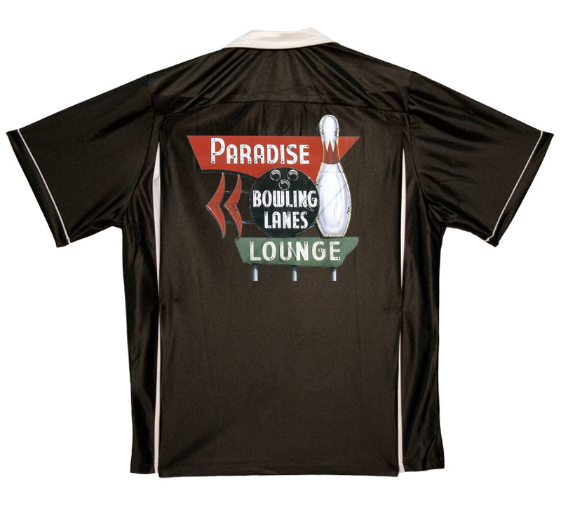 Paradise Lanes Stock Print on Youth Bowling Shirts