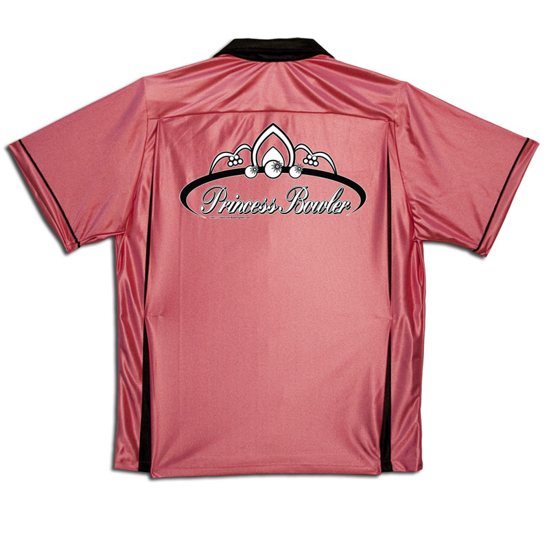 Princess Bowler Stock Print on Youth Bowling Shirts