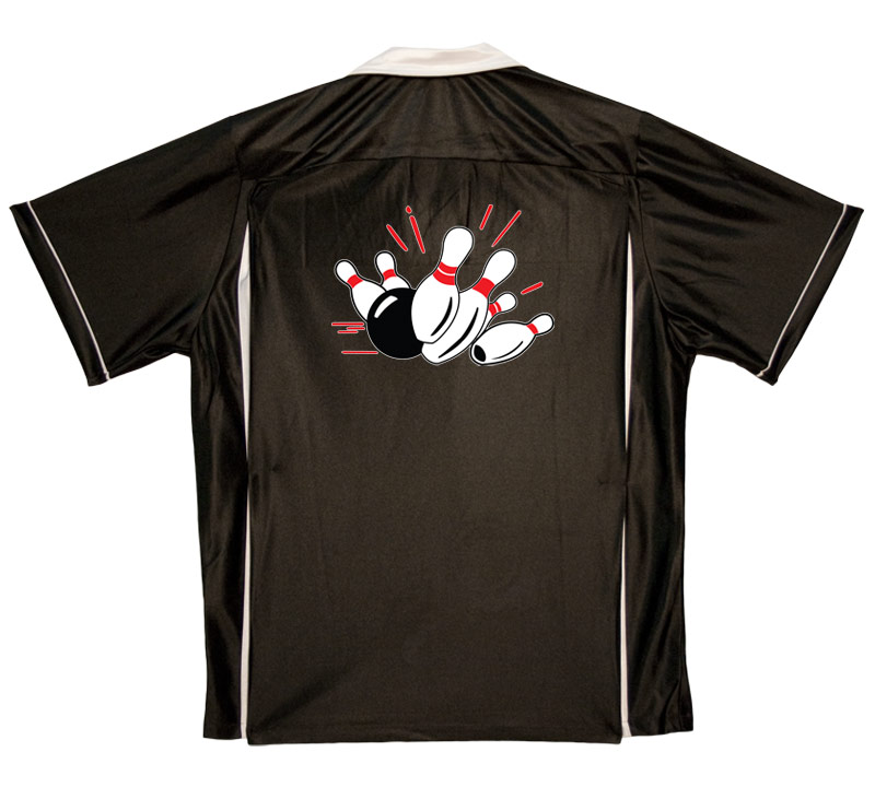 Pin Splash A Stock Print on Youth Bowling Shirts