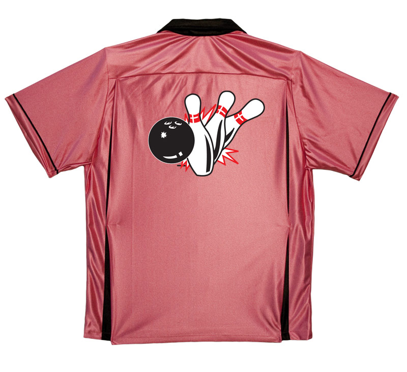 Pin Splash B Stock Print on Youth Bowling Shirts