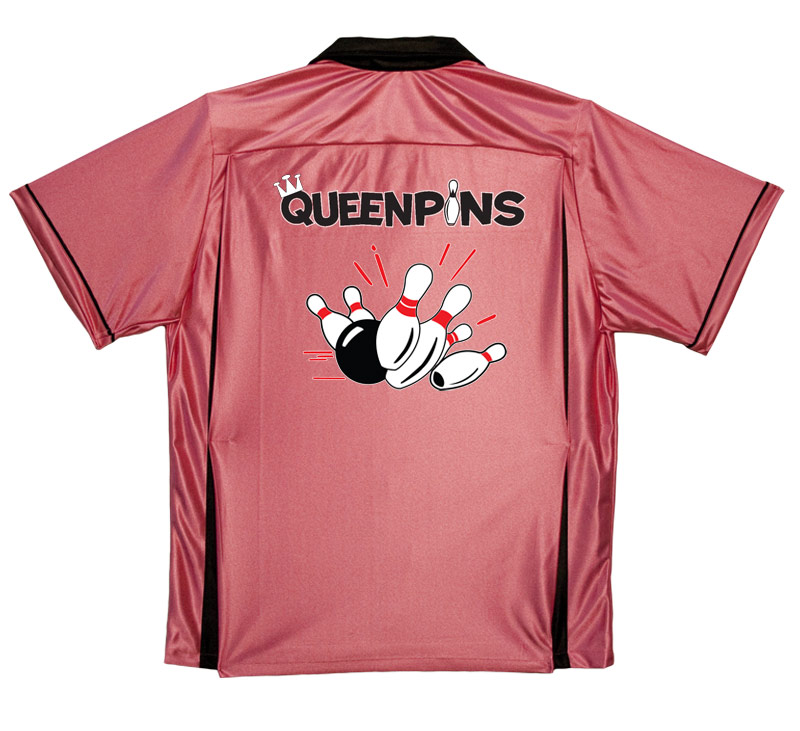 Queenpins Stock Print on Youth Bowling Shirts