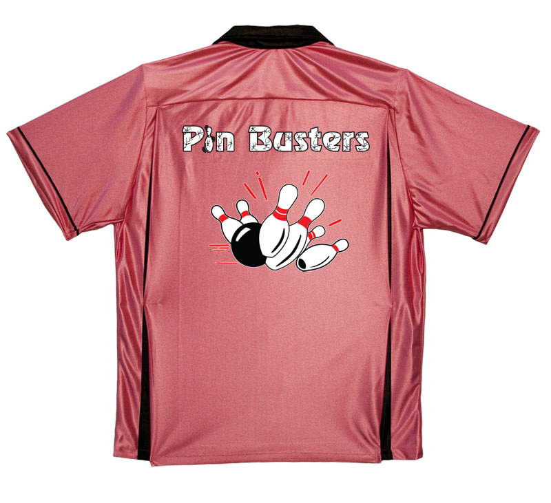 Pinbusters Stock  Print on Youth Bowling Shirts