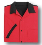 Hilton Deuce Retro Bowling Shirt - Red and Black