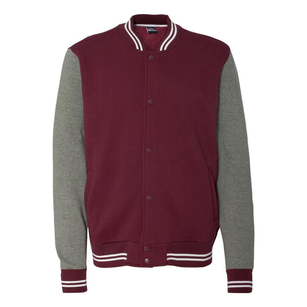 Men's Vintage Style Coats and Jackets Varsity Sweatshirt Jacket - 2369 $39.95 AT vintagedancer.com