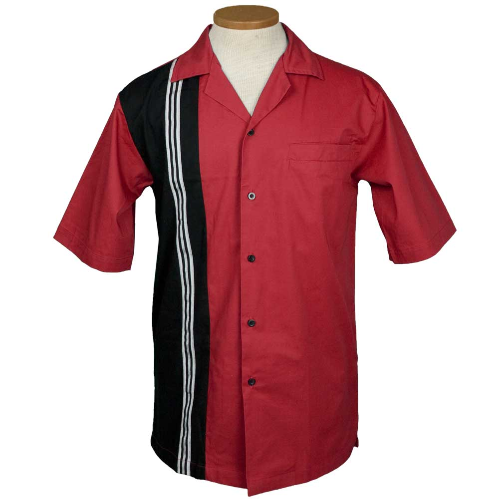 The Dude Bowling Shirt - Red & Black