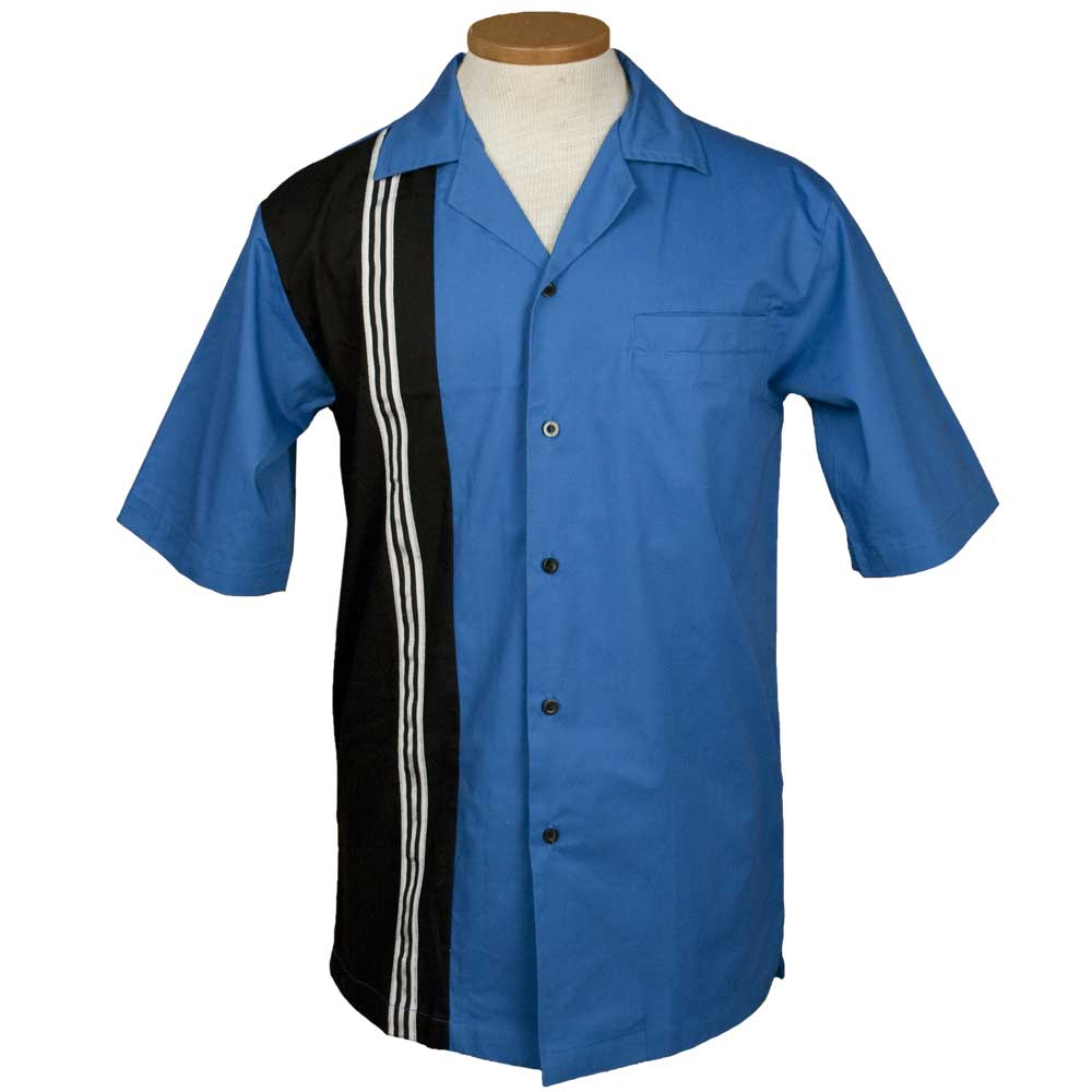 The Dude Bowling Shirt - Royal & Black