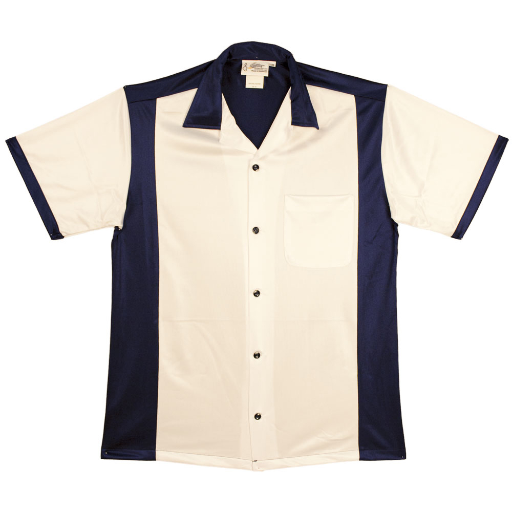 Retro Bowler - *NEW* White & Navy
