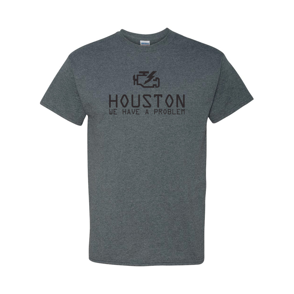 Houston we have a problem graphic heavy cotton t shirt for T shirt printing in houston tx