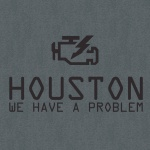 Houston We Have a Problem Graphic Heavy Cotton T-Shirt