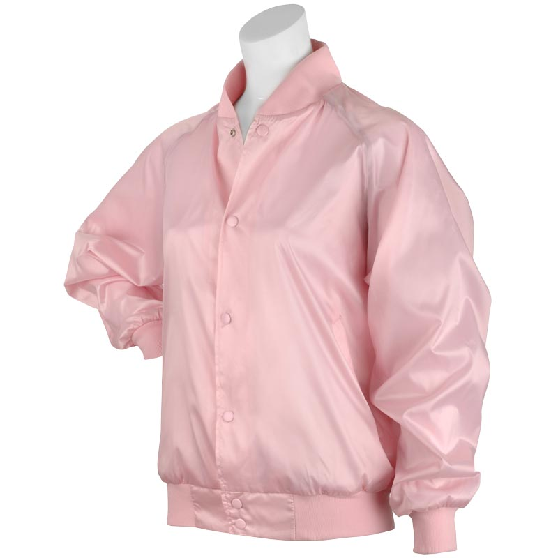 Pink Satin Jacket:  Retro Fashion