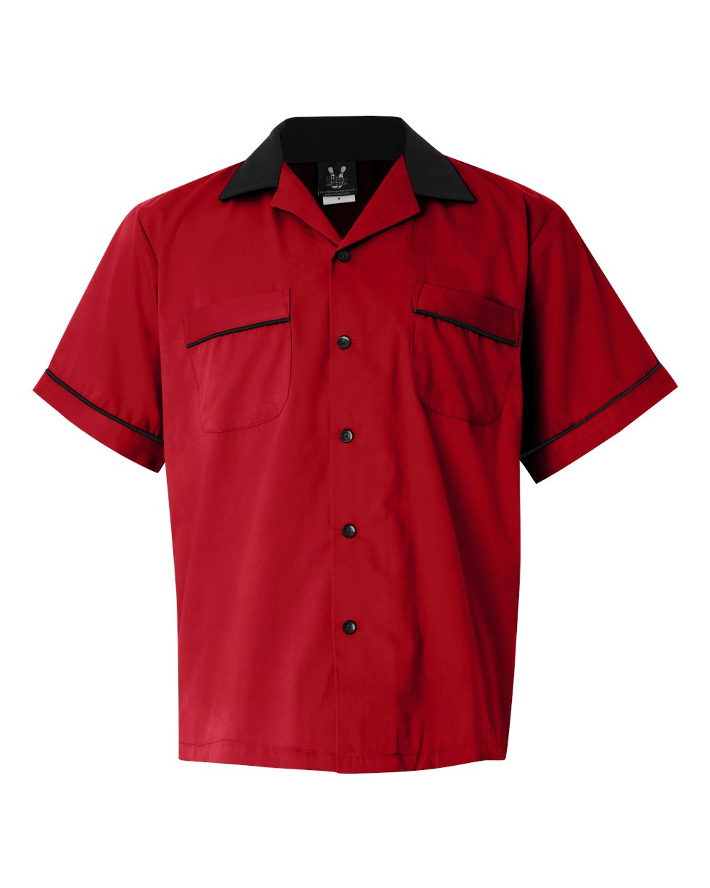 1950s Style Mens Shirts Classic Bowler 2.0 Bowling Shirt - Red  Black $39.95 AT vintagedancer.com