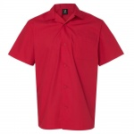 Hilton Solid Camper Bowling Shirt - Red