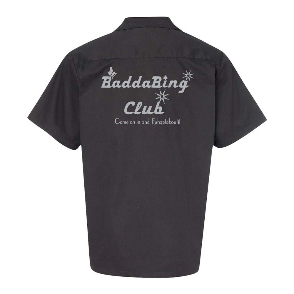 Badda Bing Club Stock Print on Vintage Bowler