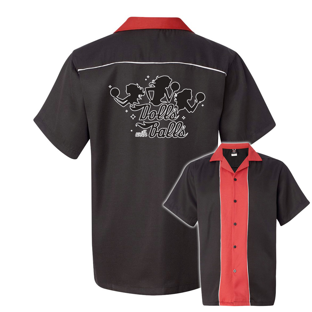 Bowlingshirt Dolls With Balls Stock Print On Swing Master 20