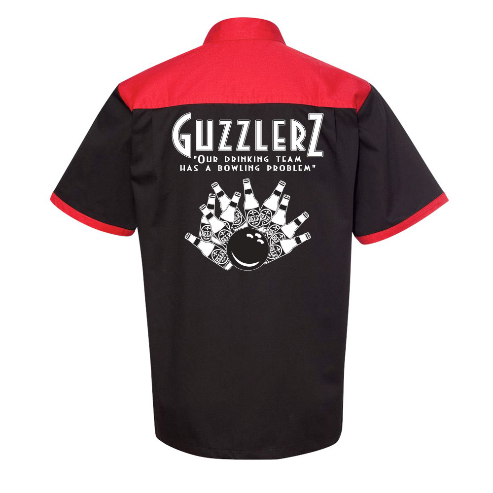 Guzzlers Stock Print on Anchor Man Bowling Shirt