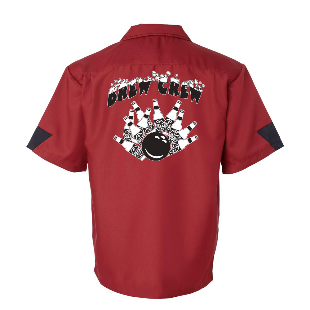 Brew Crew Stock Print on Cranker Bowling Shirt
