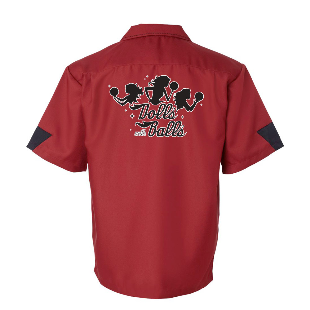 Dolls With Balls Stock Print on Cranker Bowling Shirt