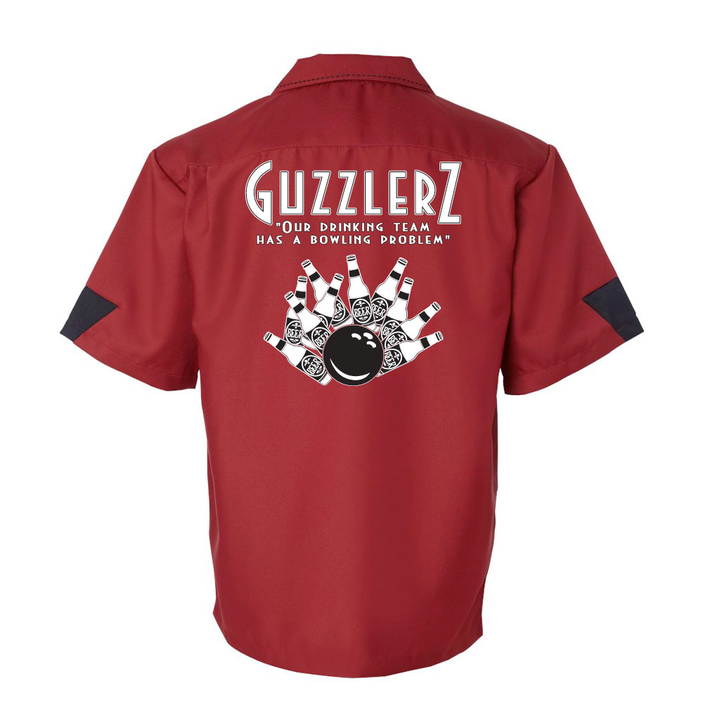 Guzzlers Stock Print on Cranker Bowling Shirt